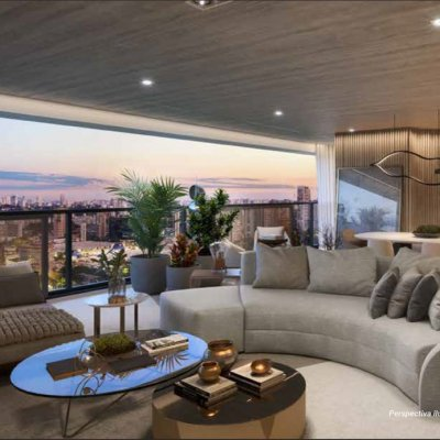 Living e Terraço do Apartamento de 186m²