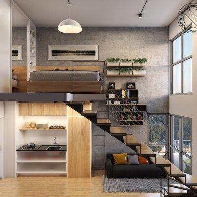 Studio Duplex de 29m²_Ângulo 2