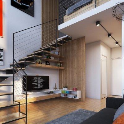 Studio Duplex de 29m²_Ângulo 1